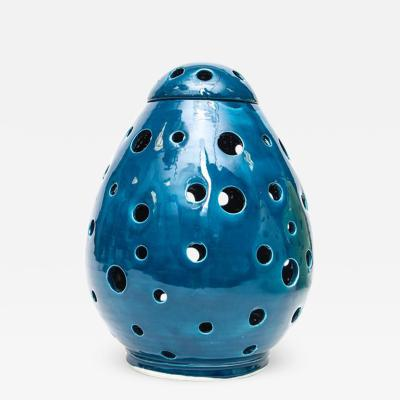Modern Blue Egg Form Table Lamp