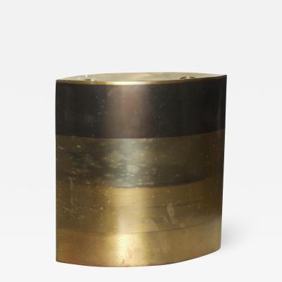 Modern Brass Candle Holder Vase Sculptural Bronze by Michael Aram