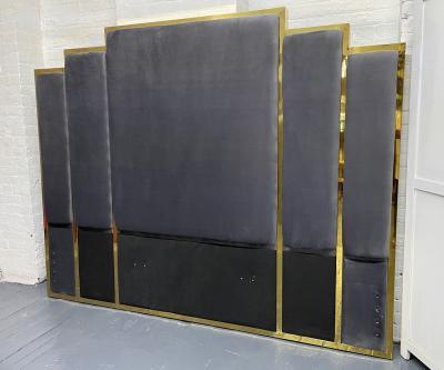 Modern Brass King Size Headboard