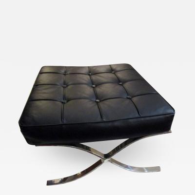 Modern Chrome Upholstered Pavillion Ottoman