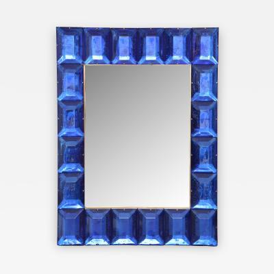 Modern Cobalt Blue Murano Glass Mirror
