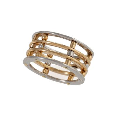 Modern Gold and Platinum Ring