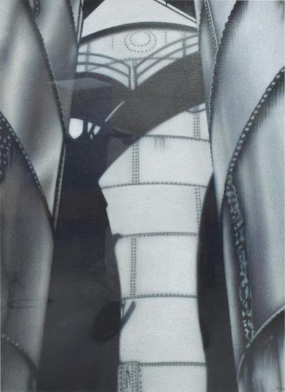 Modern JANINE STERN In Shadow II Pencil on Paper Drawing