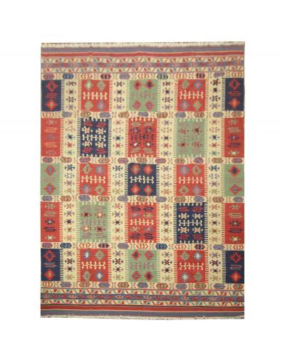 Modern Oriental Handwoven Wool Kilim Rug