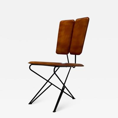 Modern Pablex Iron Leather Tripod Chair Pablo Romo for Ambianic