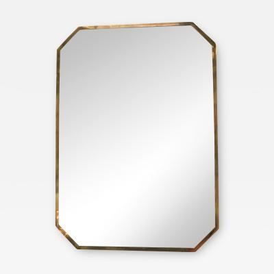 Modern Polygonal Frame Wall Mirror Italy 1950s