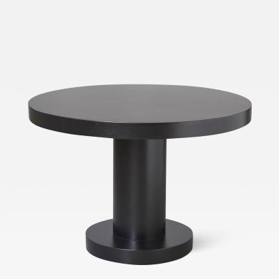Modern Puristic Oak Center Table in New Black Finish 1960s