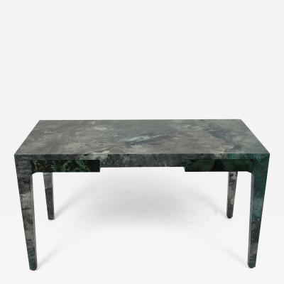 Modern Regency Style Faux Malachite Desk