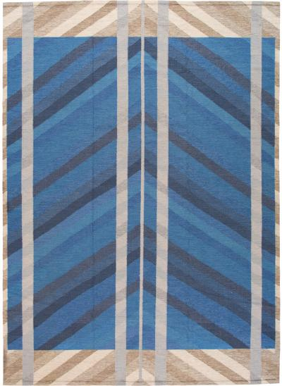 Modern Scandinavian Style Kilim Flatweave Rug