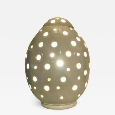Modern White Egg Form Table Lamp