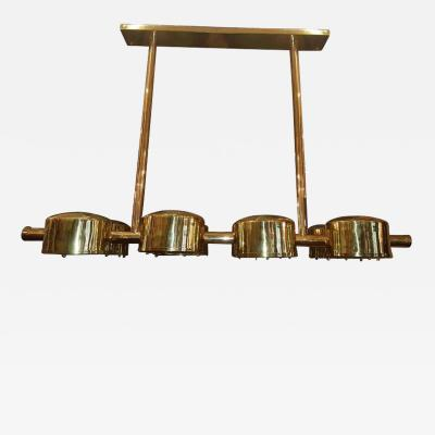 Moderne Horizontal Chandelier with Eight Lights
