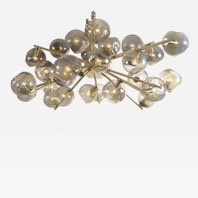 Moderne Iridescent Smoke Sputnik Ceiling Fixture Contemporary