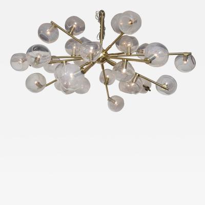 Moderne Iridescent Sputnik Ceiling Fixture Contemporary