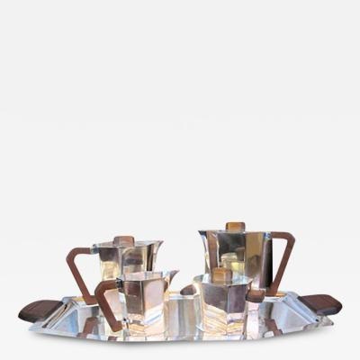 Modernist 1930s French Art Deco Coffee Tea Set