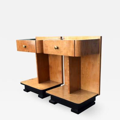 Modernist Art Deco Bedside Nightstand Cabinets circa 1930s