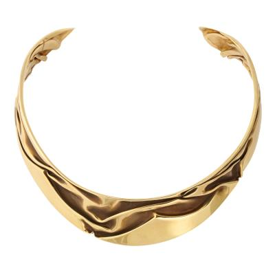 Modernist Articulated Gold Collar