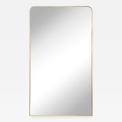 Modernist Brass Framed Mirror