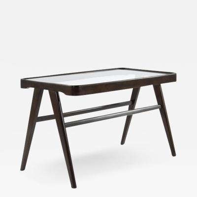 Modernist Cherry Wood Coffee Table Italy 1950s
