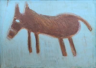 Modernist Dog painting by Sandra Darrah