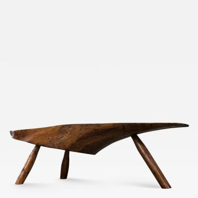Modernist Live Edge Cocktail Table