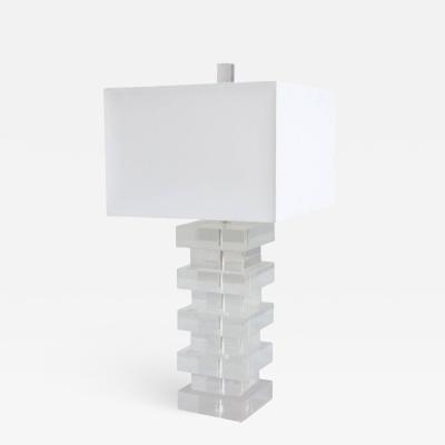 Modernist Lucite Table Lamp