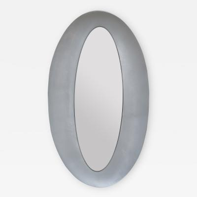 Modernist Oval Mirror by Lorenzo Burchiellaro