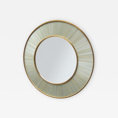 Modernist Round Mirror of Contemporary Design