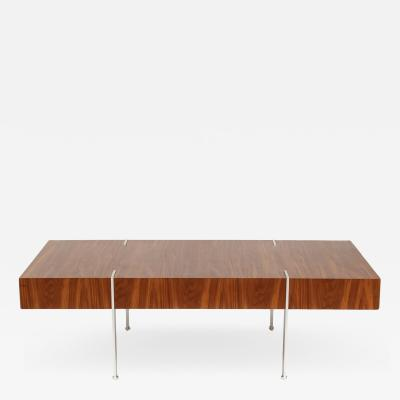 Modernist Walnut Coffee Table 1980s