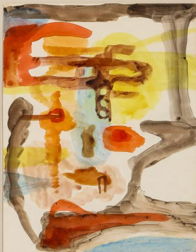 Modernist Watercolor by Hilde Sigal