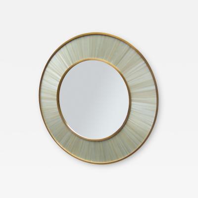 Modernist round mirror of Contemporary design