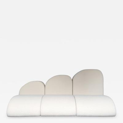 Modular Cloud Sofa Boucl Fabric by Opdipo Italy 1980s