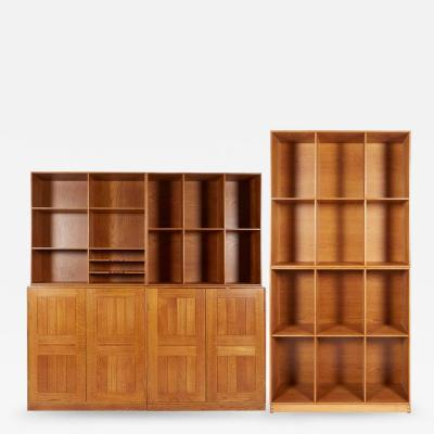 Mogens Koch Rare Modular Bookcase and Cabinets by Mogens Koch