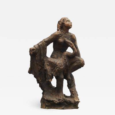 Mogens Kruse B ggild MOGENS B GGILD BRONZE SCULPTURE LEDA AND THE SWAN