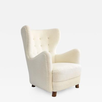 Mogens Lassen Mogens Lassen winged back chair Denmark 1930s Scandinavian Modern