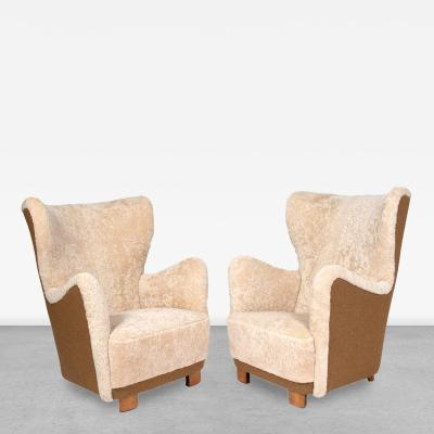 Mogens Lassen Pair of Danish Architect Designed Easy Chairs Attributed to Mogens Lassen