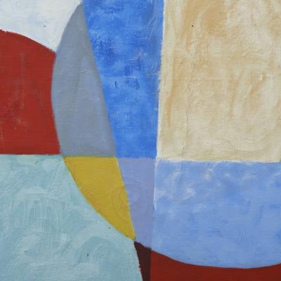 Mogens Valeur MOGENS VALEUR ABSTRACT COMPOSITION OIL PAINTING