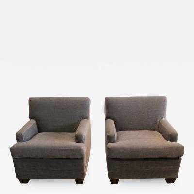 Mohair Club Chairs