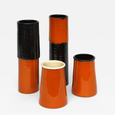 Moises Tibau Four Ceramic Vases by Moises Tibau