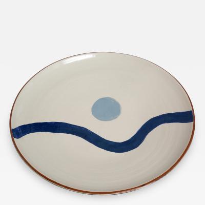 Moises Tibau Large Ceramic Plate by Moises Tibau
