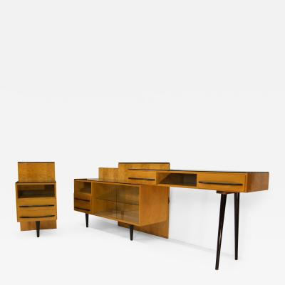 Mojmir Pozar Modular Set of Table Night Stand and Chest of Drawers by M Pozar 1960s