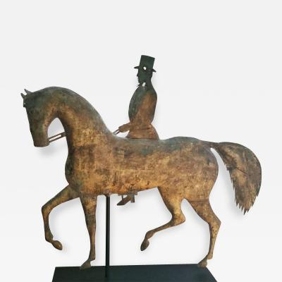 Molded Copper Rider on Formal Horse