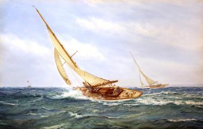 Montague Dawson A Close Race