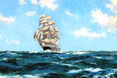 Montague Dawson A Westerly Trade Wind The Boston Clipper Southern Cross