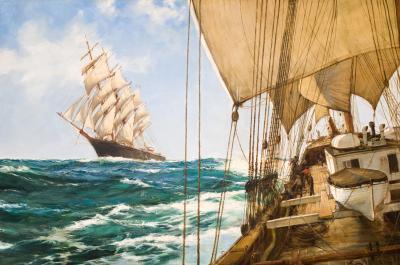Montague Dawson Ships That Pass