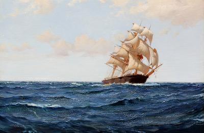 Montague Dawson The Bostonian