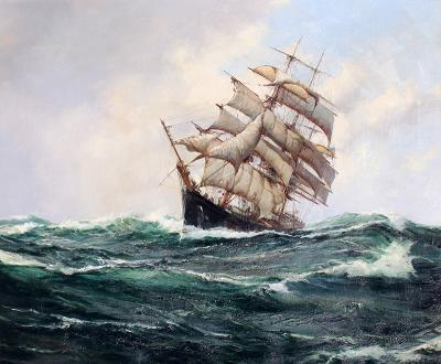 Montague Dawson The Carrie Reed under Full Sail