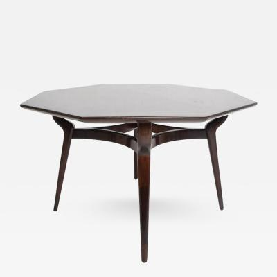 Monteverdi and Young Walnut Dining or Office Table Octagon Shape