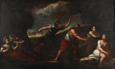 Monumental 17th Century Old Master Allegorical Scene Painting