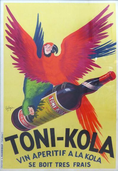 Monumental 1935 French Art Deco Toni Kola Poster