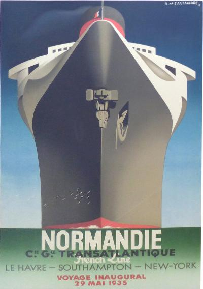 Monumental 1990s French Normadie Inaugural Poster Re strike